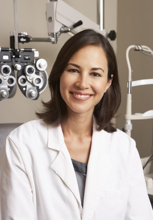 42256505 - portrait of female optician in surgery